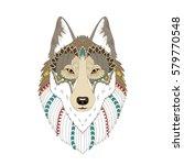 vector illustration of the wolf ... | Shutterstock .eps vector #579770548