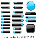 black and blue menu buttons.... | Shutterstock .eps vector #579771724