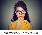 Small photo of Portrait of a young amazed surprised girl. Human emotions reaction