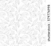 black white seamless floral... | Shutterstock .eps vector #579776998