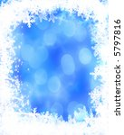 frame formed by snowflakes | Shutterstock . vector #5797816