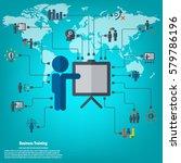 business training   conceptual... | Shutterstock .eps vector #579786196