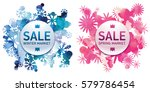seasons sale set. winter and... | Shutterstock .eps vector #579786454