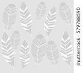 feather vector seamless... | Shutterstock .eps vector #579788590