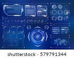 futuristic sci fi modern user... | Shutterstock .eps vector #579791344