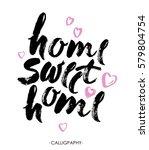 hand lettering typography... | Shutterstock .eps vector #579804754
