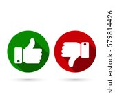 thumb up  thumb down circle... | Shutterstock .eps vector #579814426