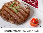 assorted delicious grilled meat ...   Shutterstock . vector #579814768