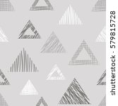 seamless vector geometrical... | Shutterstock .eps vector #579815728