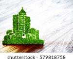 green ecology city development... | Shutterstock . vector #579818758