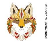 vector illustration of the fox  ... | Shutterstock .eps vector #579820810