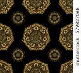 vintage golden scrolls for... | Shutterstock .eps vector #579827068