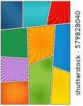 comic book blank background... | Shutterstock .eps vector #579828040