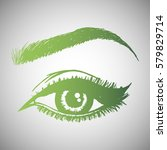 illustration with woman's eye... | Shutterstock .eps vector #579829714