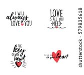 happy valentines day | Shutterstock .eps vector #579835618