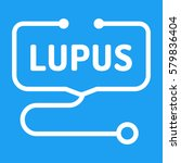 lupus. badge with stethoscope...   Shutterstock .eps vector #579836404
