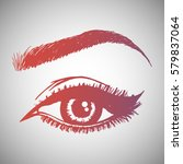 illustration with woman's eye... | Shutterstock .eps vector #579837064