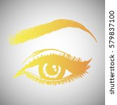 illustration with woman's eye... | Shutterstock .eps vector #579837100