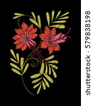 embroidery. embroidered design... | Shutterstock .eps vector #579838198