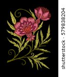 embroidery. embroidered design... | Shutterstock .eps vector #579838204