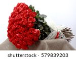Stock photo large beautiful bouquet of red roses 579839203