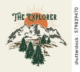 the explorer forest camping... | Shutterstock .eps vector #579839470