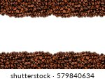 coffee beans stripes isolated... | Shutterstock . vector #579840634
