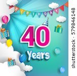 40th anniversary celebration... | Shutterstock .eps vector #579846148