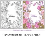 the composition of bouquet of... | Shutterstock .eps vector #579847864