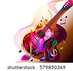 music background  flyer design... | Shutterstock .eps vector #579850369
