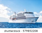 large luxury cruise ship on sea ... | Shutterstock . vector #579852208