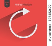 reload flat icon. simple web...   Shutterstock .eps vector #579852670