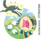 storybook illustration... | Shutterstock .eps vector #579860386