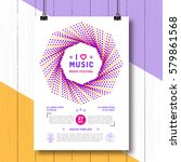 music festival party poster... | Shutterstock .eps vector #579861568