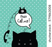 call me card with copy space.... | Shutterstock .eps vector #579863008