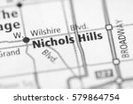 nichols hills. oklahoma. usa | Shutterstock . vector #579864754