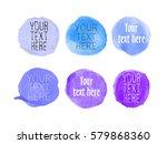 set of blue and violet... | Shutterstock .eps vector #579868360