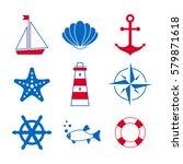 sea symbols icons | Shutterstock .eps vector #579871618