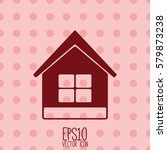 home icon. flat style for...   Shutterstock .eps vector #579873238