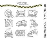 vector thin line pictogram... | Shutterstock .eps vector #579878818