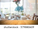 blurred background of dining... | Shutterstock . vector #579880609