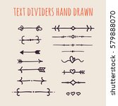 set of hand drawn text dividers ... | Shutterstock .eps vector #579888070