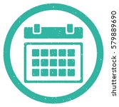calendar grainy textured icon...   Shutterstock . vector #579889690