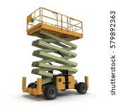 mobile aerial work platform  ... | Shutterstock . vector #579892363