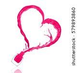 splash of nail polish in the... | Shutterstock . vector #579893860