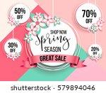 spring season sale offer ... | Shutterstock .eps vector #579894046