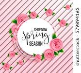 spring season sale offer ... | Shutterstock .eps vector #579894163