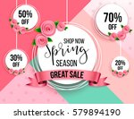 spring season sale offer ... | Shutterstock .eps vector #579894190