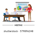 business people having board... | Shutterstock .eps vector #579896248