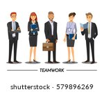 business people teamwork ... | Shutterstock .eps vector #579896269